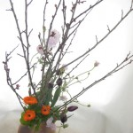 木瓜と金盞花