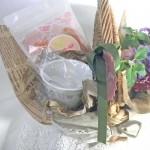 マリーゴールドのハーブティと花束のギフトセット