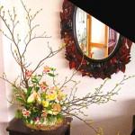 鬱金花とアルストロメリアのアレンジ
