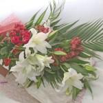 カサブランカとアルストロメリアの花束