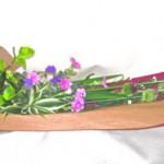 花菖蒲と丹頂アリウムの花束