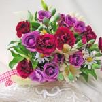 バラとカーネーションの花束