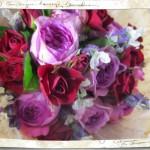 バラとラベンダーの香りの花束