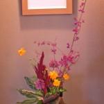 紫式部と黄花コスモス