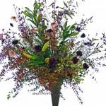 紅葉雪柳と紫式部