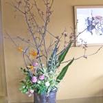 吉野桜と椿の活け込