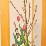 菜の花と桃