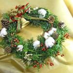 樅の木とヒバのクリスマスリース