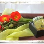 ポピーの花束とマグカップセット