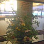 夏グミとアンスリウムの生け込花