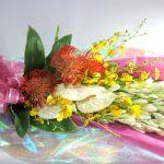 チューベローズとアンスリウムの花束