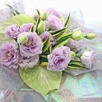 トルコキキョウとアンスリウムの花束