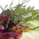 ストレリチアとアオモジの花束