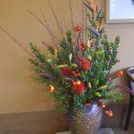 ストレリチアと花茄子のアレンジ