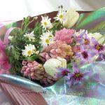 リューココリーネとヒヤシンスの花束