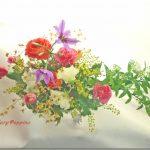コデマリと春の小花のアレンジ