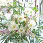 カトレアのスタンド装花