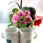 花束とマグカップのギフトセット