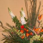 金魚草とエニシダのアレンジ