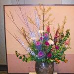 桐と金魚草