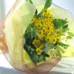 ヘレニウムと百合の花束