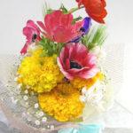 アネモネとネリネの花束