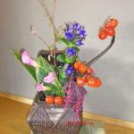 花茄子とリンドウ