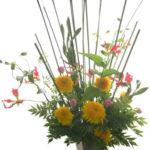 向日葵とグロリオーサ