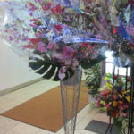御祝のスタンド装花