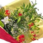 カサブランカとグロリオーサの花束