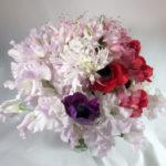 スイートピーとネリネの花束