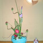 花菖蒲と丹頂アリウム
