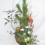 松竹梅と葉牡丹を使ったお正月アレンジメント