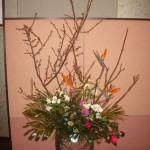 椿と梅を使ったアレンジ