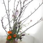 ボケと金盞花のアレンジ