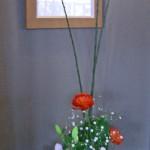 菜の花とラナンキュラスのアレンジ