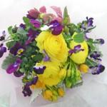 パンジーとオーニソガラム(ドゥビウム)の花束