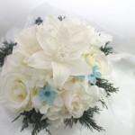 プリザーブドフラワーのブライダルブーケ〜Amazon lily