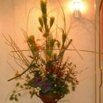 枝垂れ柳を使ったお正月アレンジ