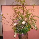コデマリとモッコウバラのアレンジ