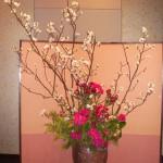 石楠花と桜のアレンジ