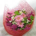 ガーベラとスターチスの花束