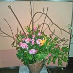 石楠花とキウイのツル