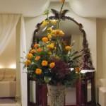 フォックスフェイスとマリーゴールドのアレンジ