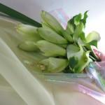 カラーとアマリリスの花束