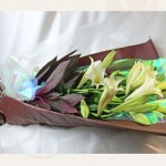 鉄砲百合の花束
