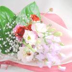 スイートピーとトルコキキョウを使った花束