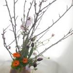 木瓜と金盞花のアレンジ木瓜と金盞花のアレンジ