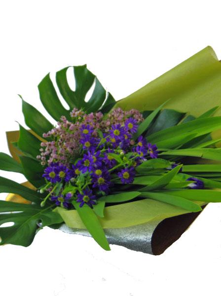 杜若と都忘れの花束