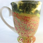 モネの「アルジャントゥイユのひなげし」のマグカップ